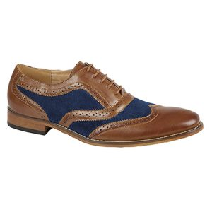Brown and Blue Brogue Shoes