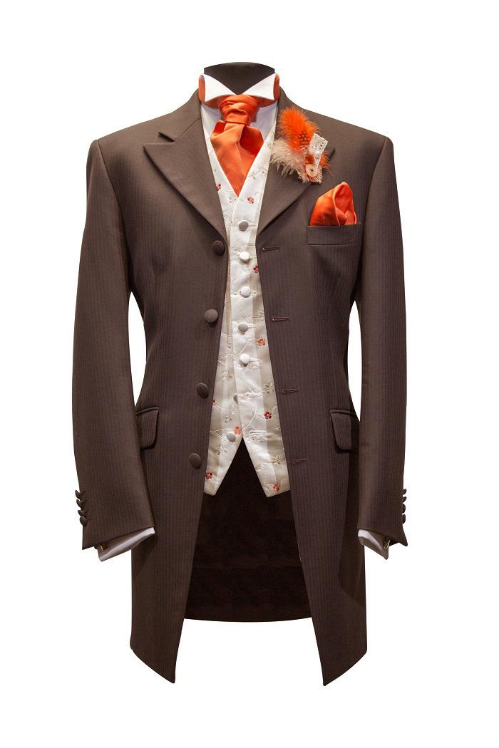 brown-orange suit