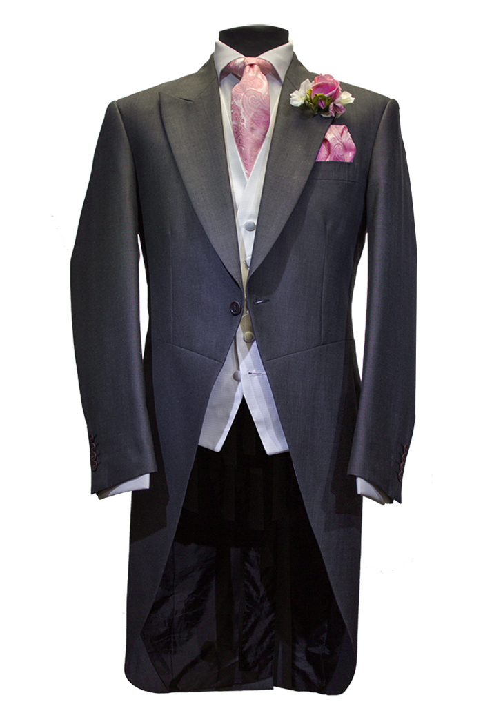 charcoal-grey-pink morning suit
