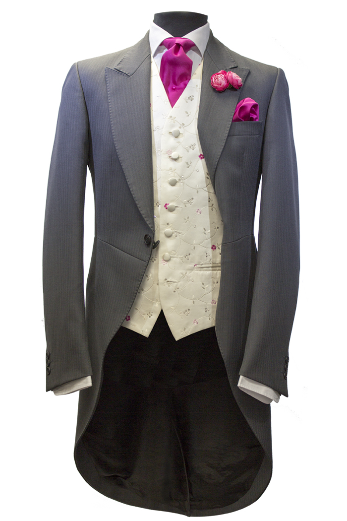 charcoalHB-fuscia morning suit
