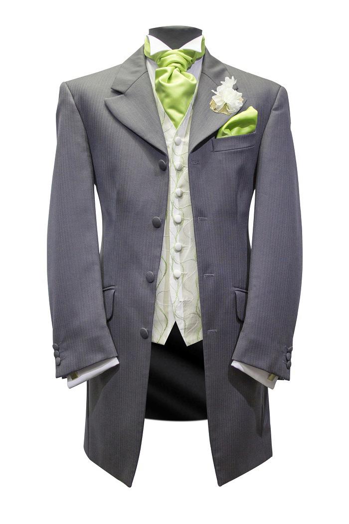 grey-lime Edwardian suit hire