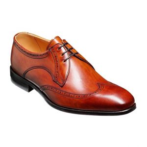 Barker Wimborne Wingtip Brogue in Rosewood