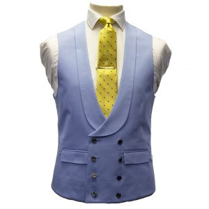 Double Breasted Waistcoat in Sky Blue