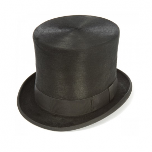 Christys Fur Taller Top Hat in Black