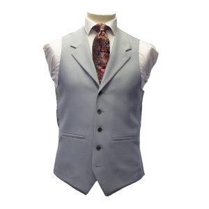 Dove Grey Waistcoat with Lapel