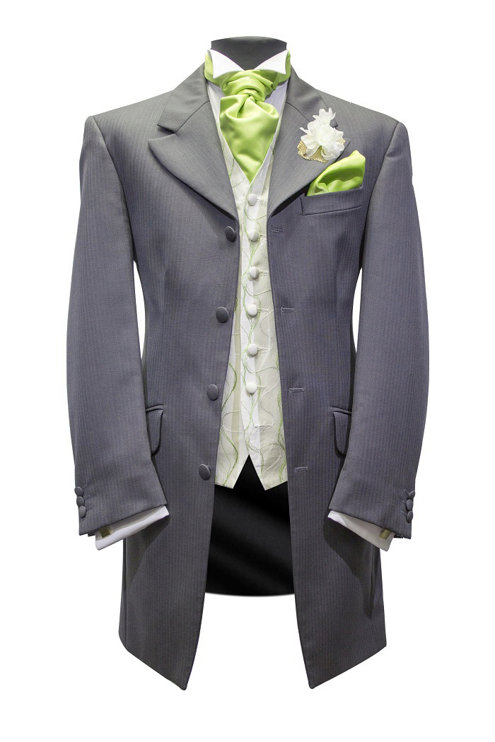 grey-lime Edwardian suit hire