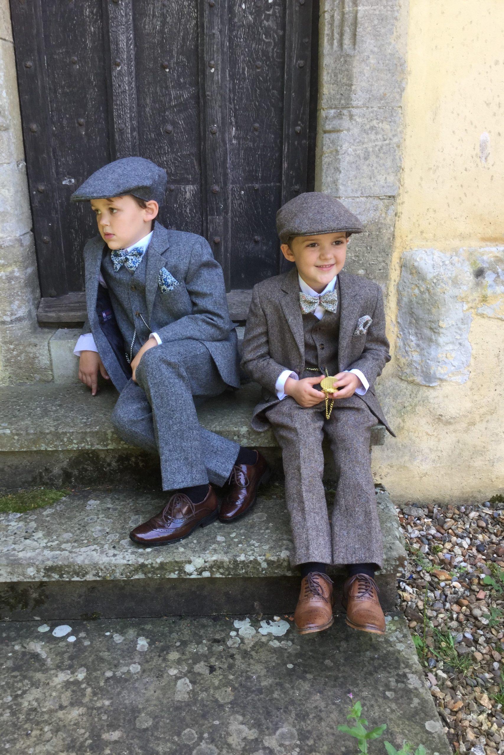 Wedding Pageboys in Heritage Tweed Suit