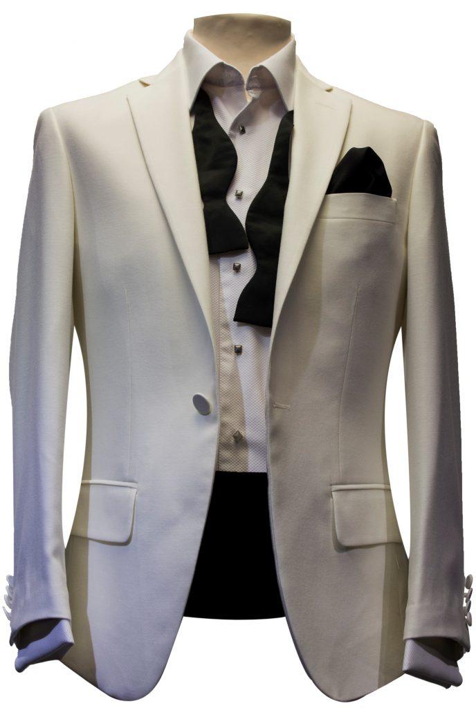 white hire dinner suit tuxedo