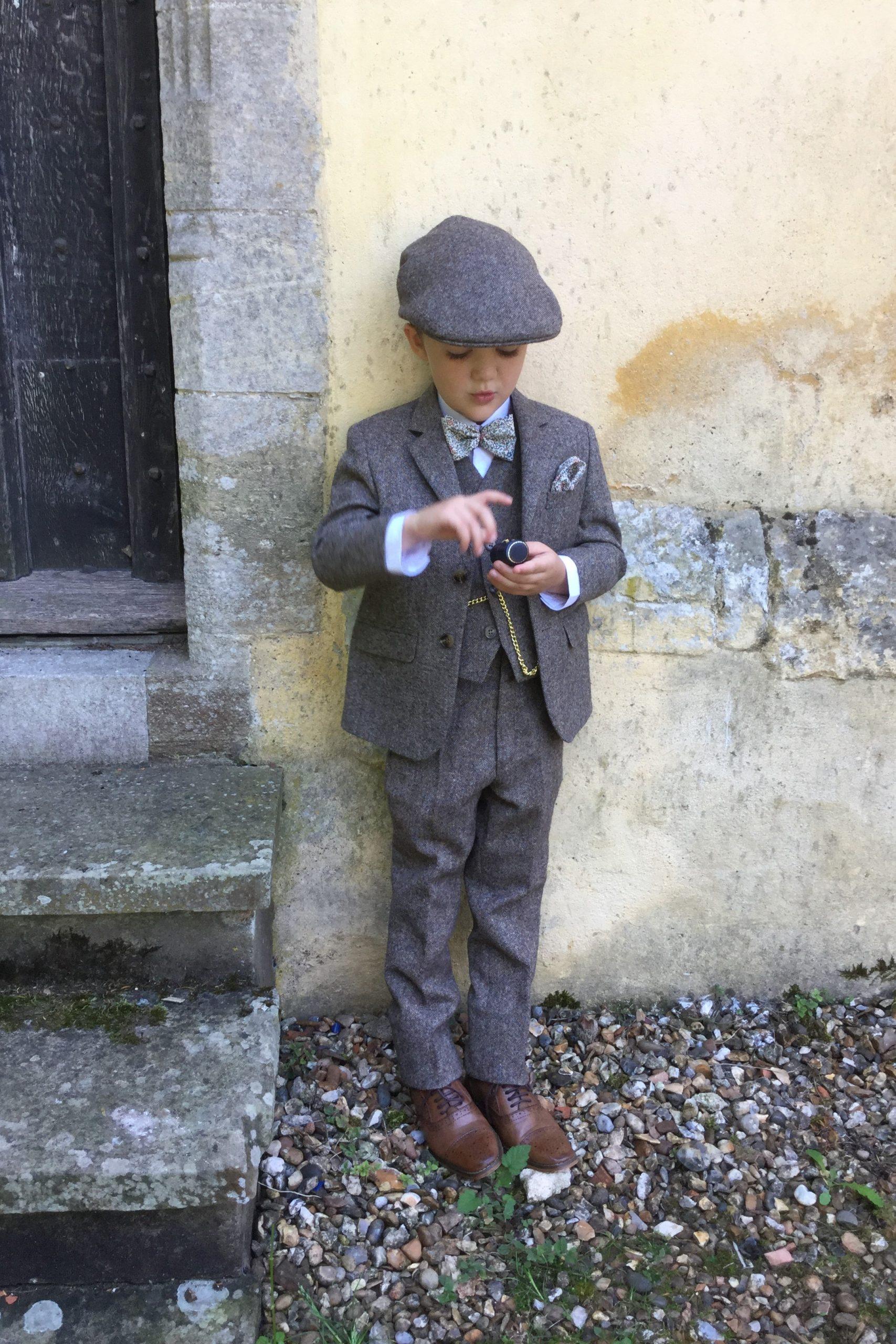 Wedding Pageboy in Heritage Tweed Suit
