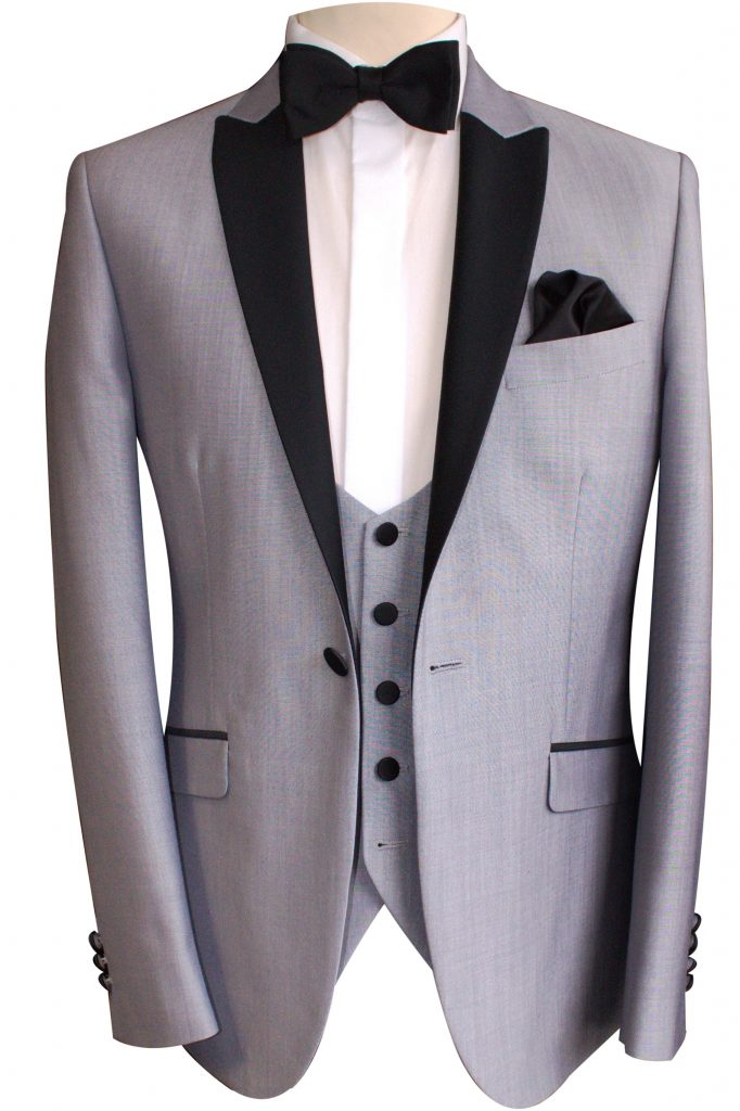 Silver Dinner Suit Tuxedo with silver waistcoat
