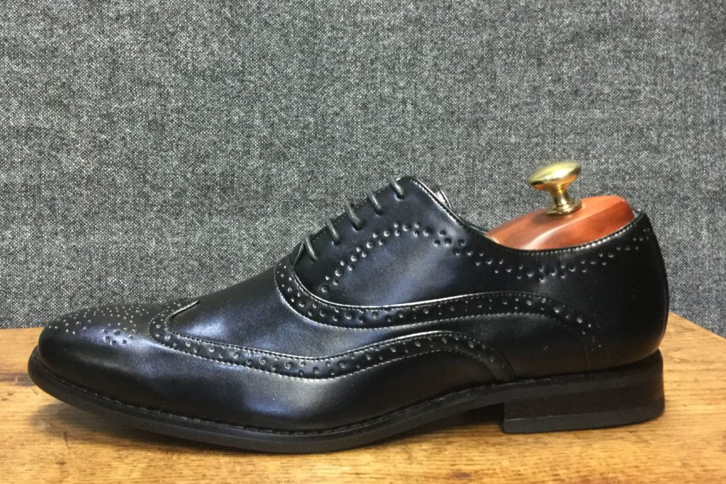 Black Brogue Formal Wear Mens Shoe