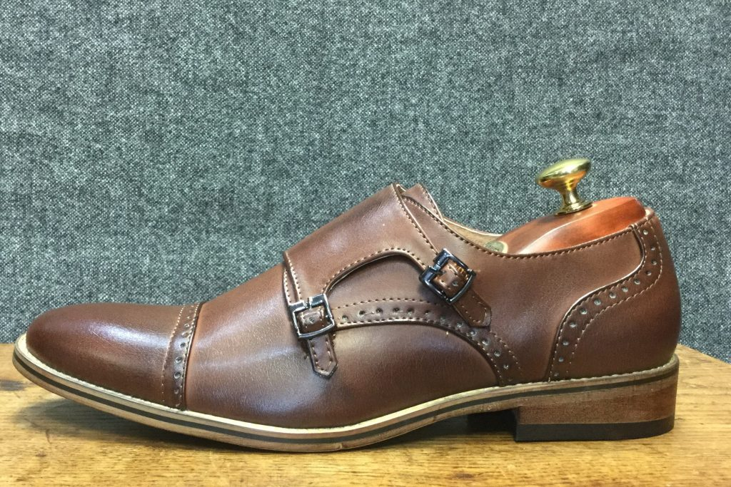 Brown Buckle Formal Wear Mens Shoe