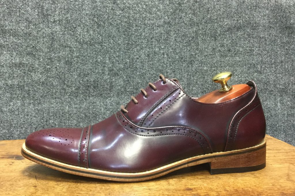 Burgundy Brogue Formal Wear Mens Shoe