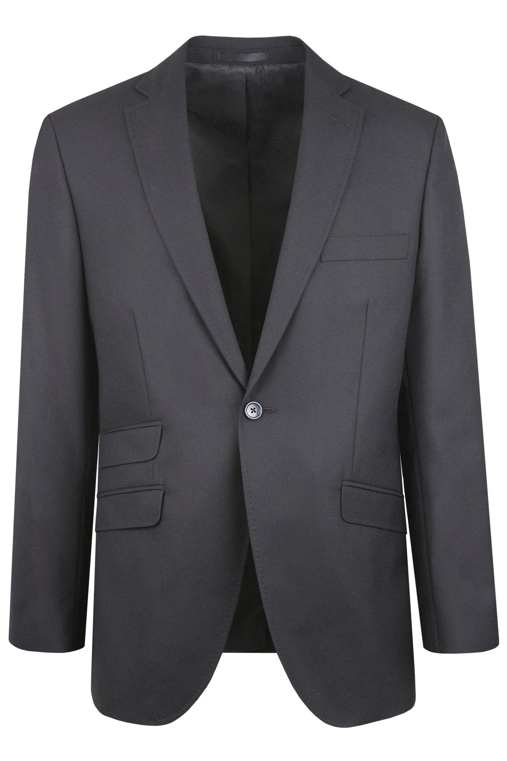 Black Wool Suit Jacket by a menswear hire company in Berkshire