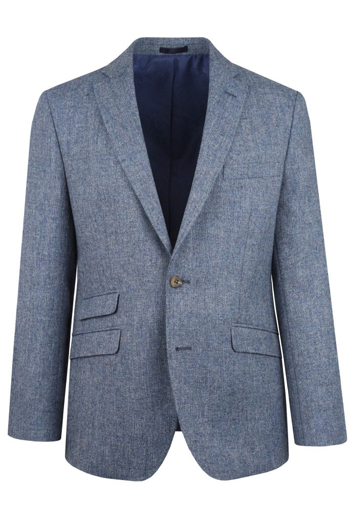 Blue Heritage Tweed Suit Jacket