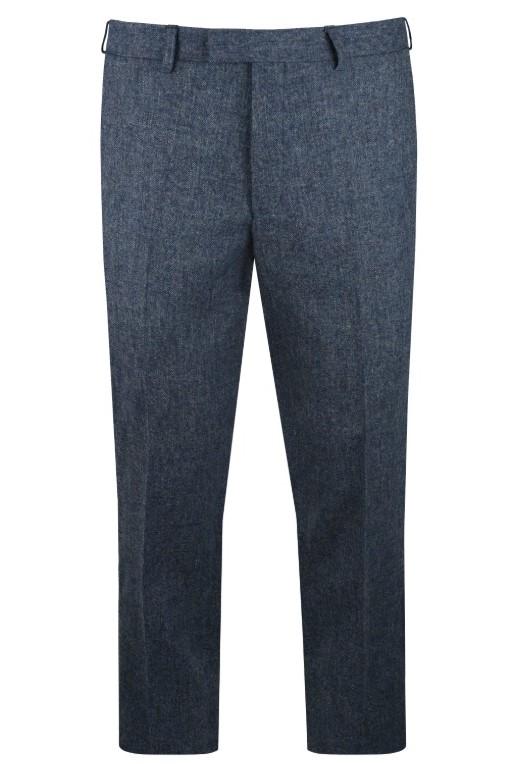 Blue Heritage Tweed Suit Trousers