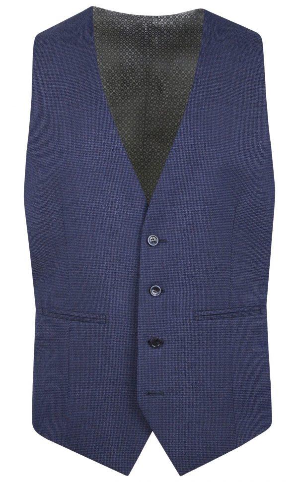 Navy Wool Mens Wedding Suit Waistcoat by Black Tie Menswear, Berkshire