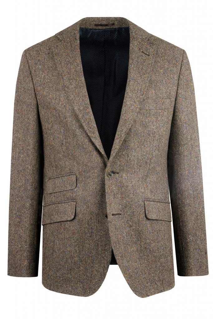 Brown Donegal Tweed Suit Jacket