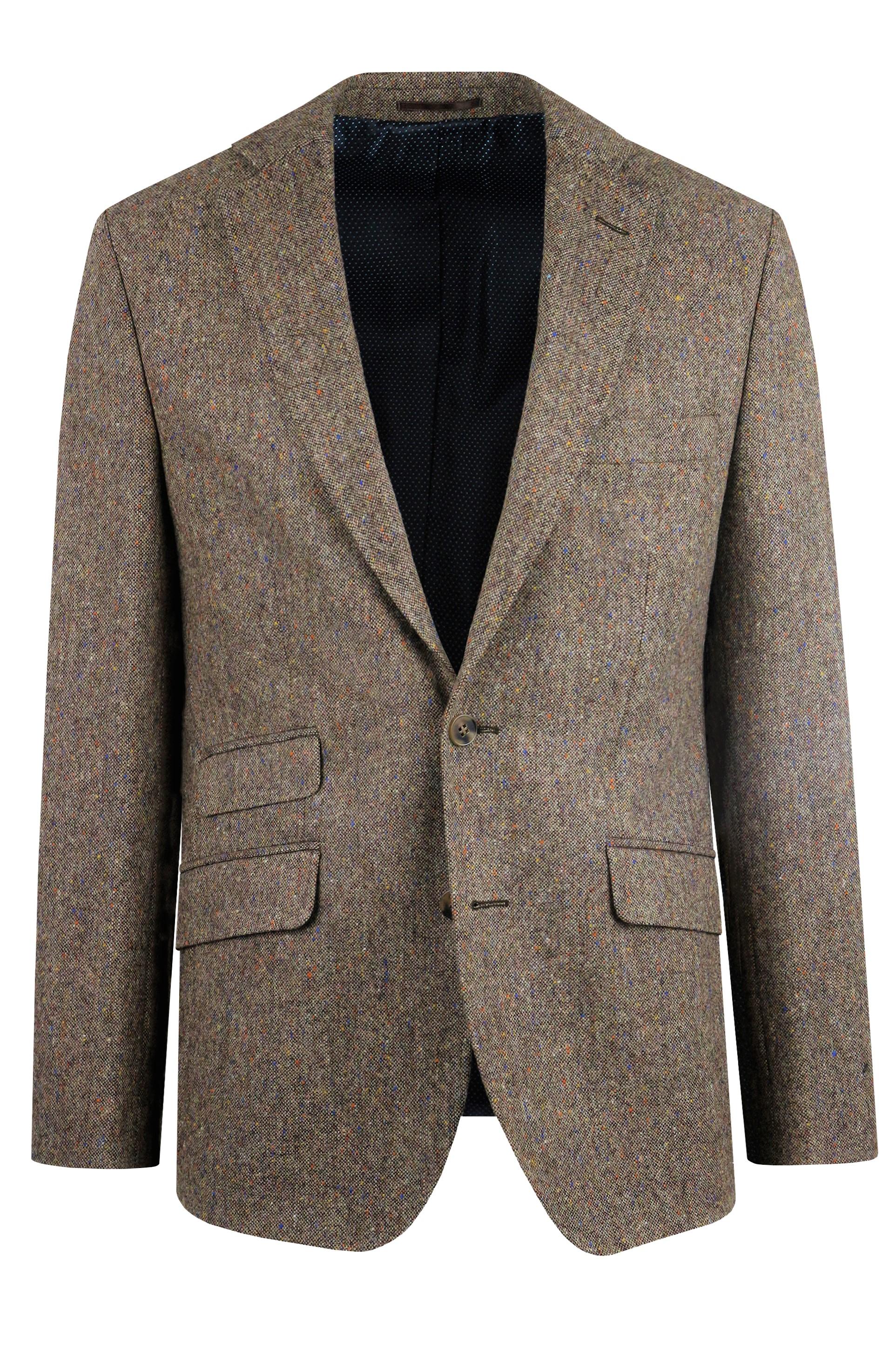Brown Donegal Tweed Suit Jacket