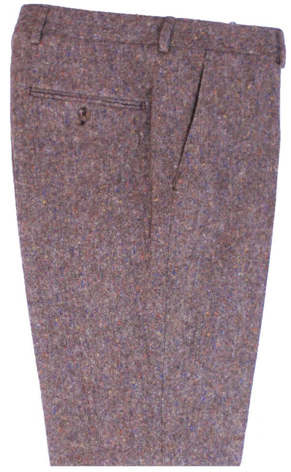 Brown Donegal Tweed Suit Trousers
