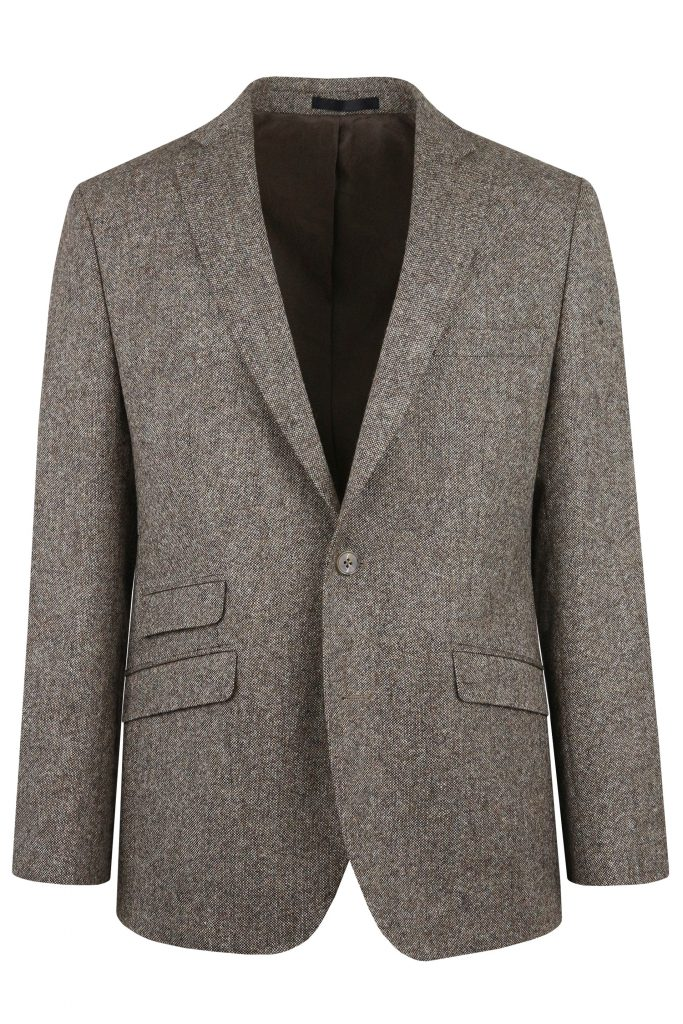 Brown Heritage Tweed Suit Jacket