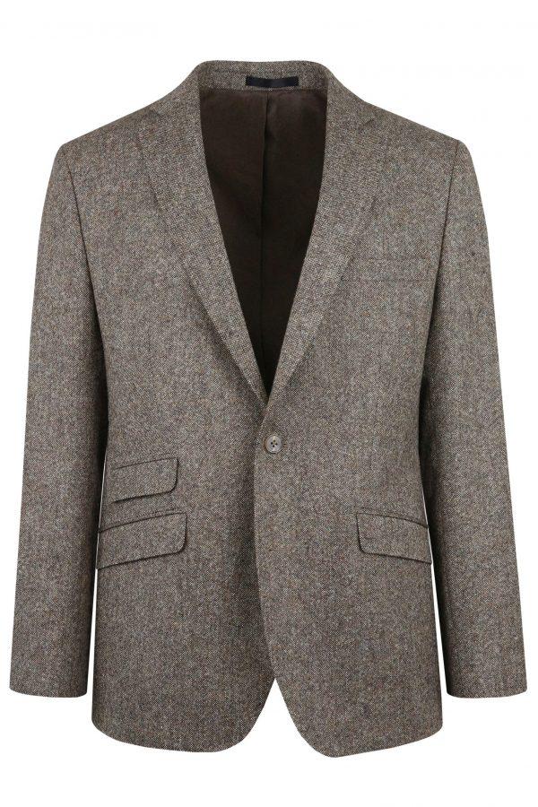 Brown Heritage Tweed Suit Jacket