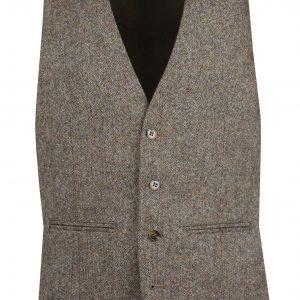 Brown Heirtage Tweed Mens Suit Waistcoat