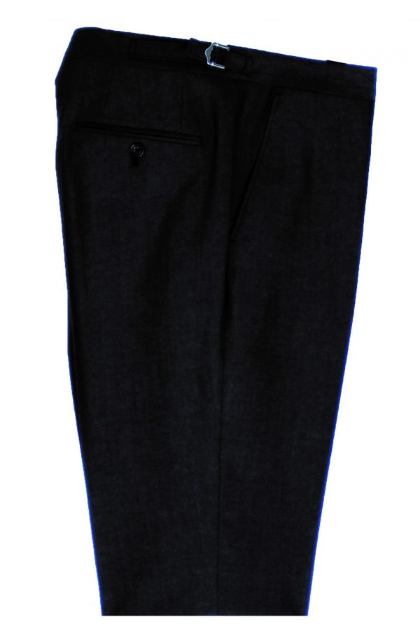 Mens Charcoal Mohair Suit Trousers