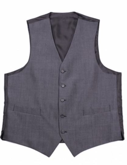 Charcoal Mohair Mens Suit Waistcoat