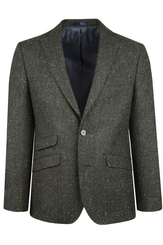Green Donegal Tweed Suit Jacket by Black Tie Menswear in Berkshire