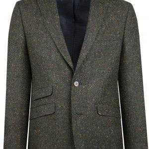 Green Donegal Tweed Suit Jacket by Black Tie Menswear in Berkshire
