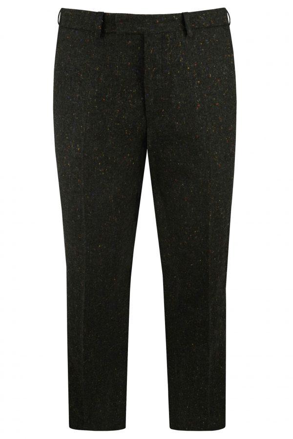 Green Donegal Tweed Suit Trousers By Black Tie Menswear in Berkshire