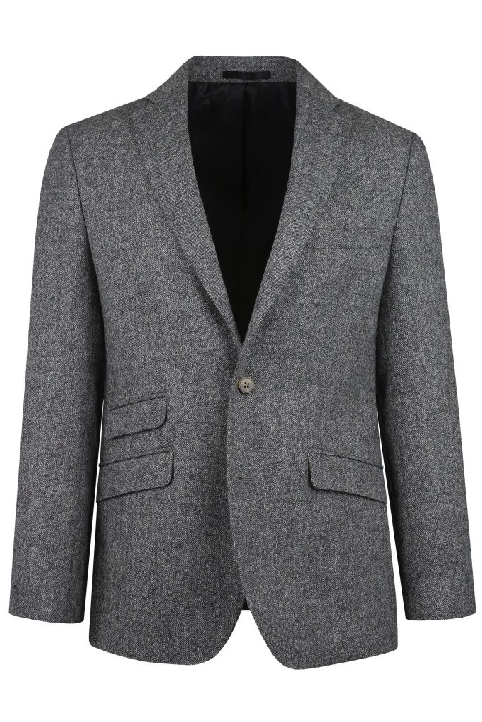 Heritage Grey Mens Tweed Suit Jacket by Black Tie Menswear, Berkshire