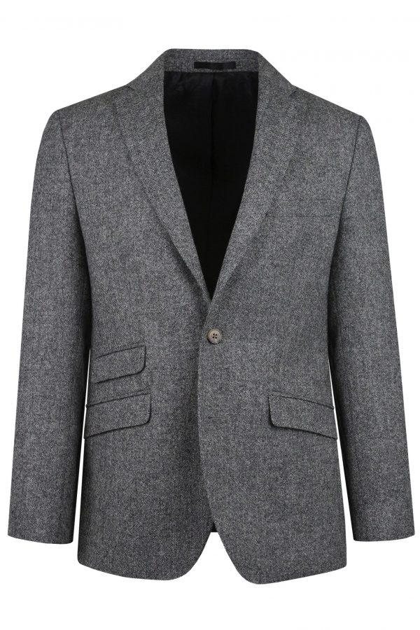 Heritage Grey Mens Tweed Suit Jacket by Black Tie Menswear, Berkshire