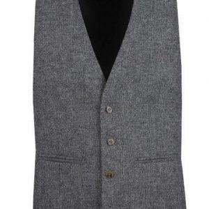 Heritage Grey Mens Tweed Suit Waistcoat by Black Tie Menswear, Berkshire