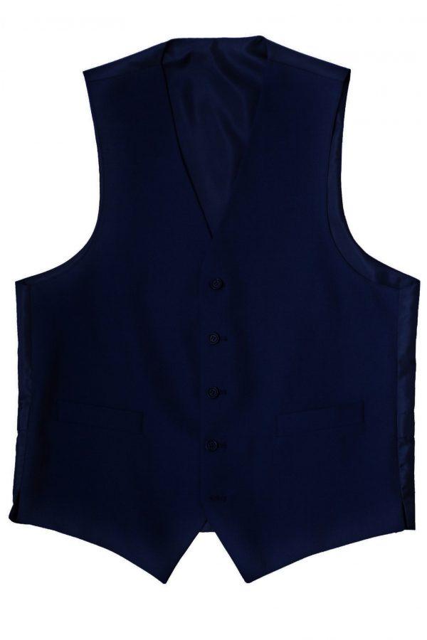 Navy Mohair Mens Suit Waistcoat by Black Tie Menswear, Berkshire