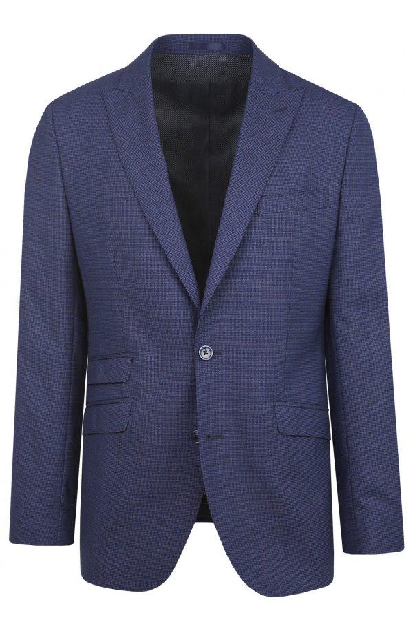 Navy Wool Mens Wedding Suit Jacket by Black Tie Menswear, Berkshire