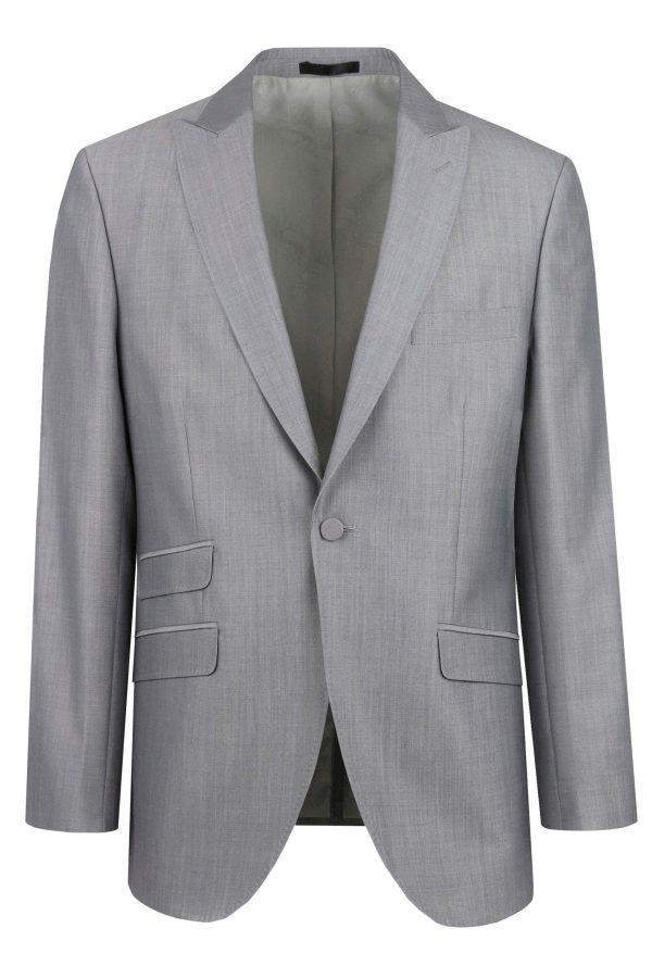 Pearl Grey Mens Wedding Suit Jacket by Black Tie Menswear, Berkshire