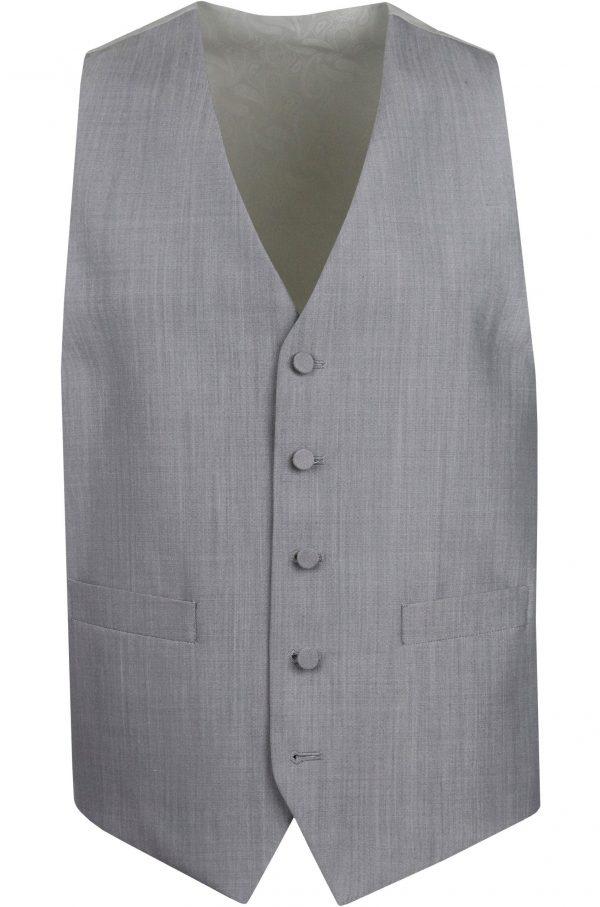 Pearl Grey Mens Wedding Suit Waistcoat by Black Tie Menswear, Berkshire