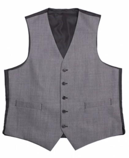 Silver Mohair Mens Wedding Suit Waistcoat by Black Tie Menswear, Berkshire