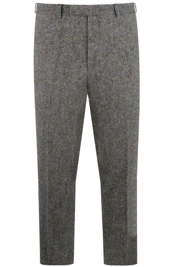 Steel Blue Tweed Mens Wedding Suit Trousers by Black Tie Menswear, Berkshire