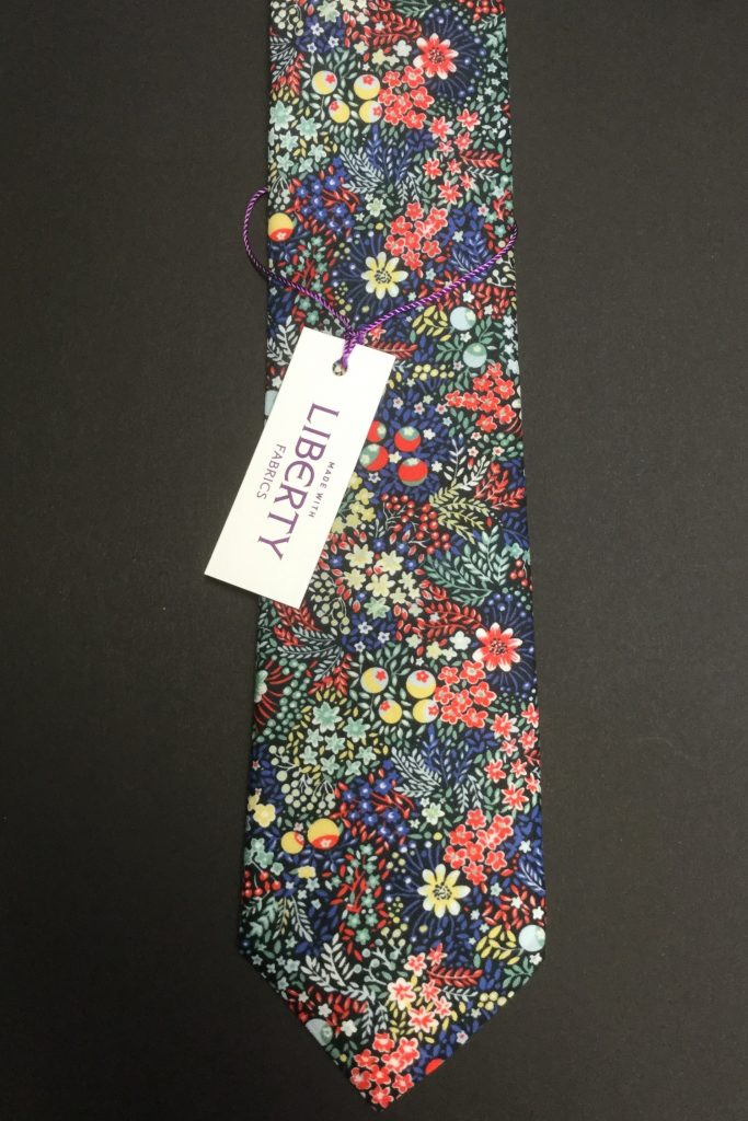 Elderberry Liberty of London cotton fabric floral tie