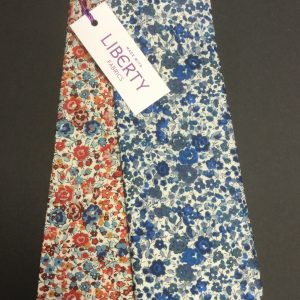 Emma and Georgina red and blue Liberty of London floral cotton tie