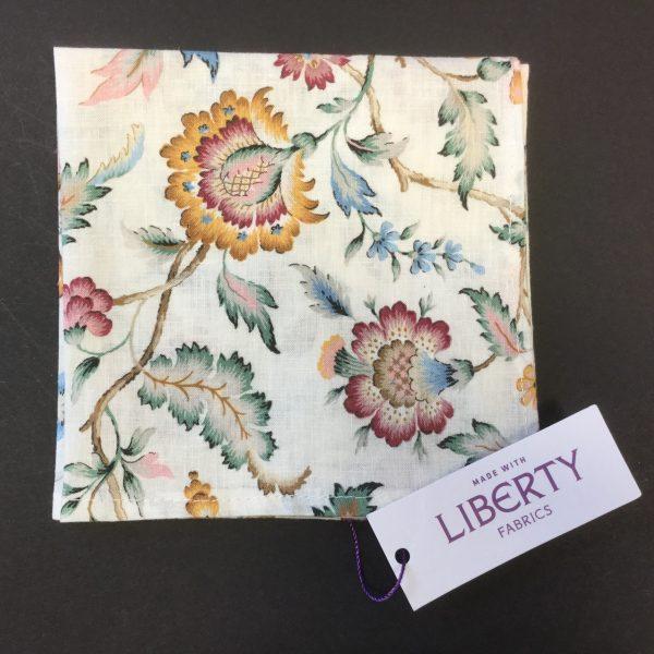 Eva Belle Liberty of London cotton fabric floral handkerchief