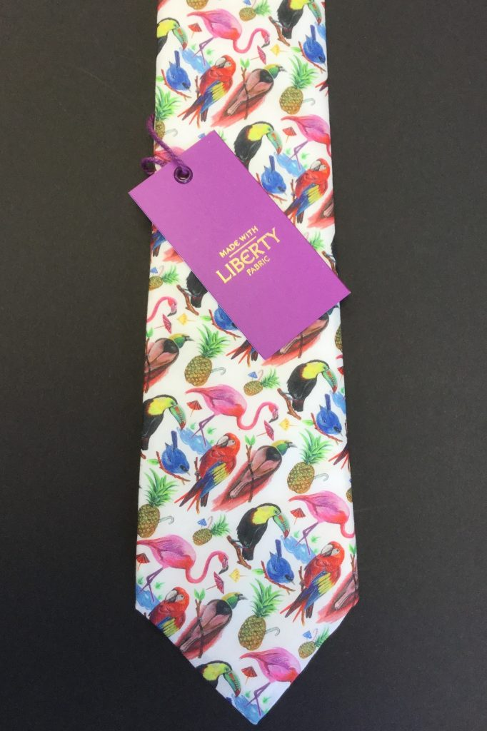 Birds of Paradise Liberty of London Fabric Cotton Tie