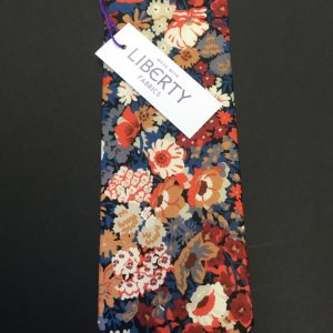 Thorpe Orange Liberty of London floral cotton fabric tie
