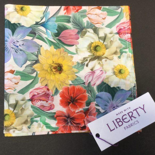 Meadow Medley Liberty of London cotton fabric handkerchief