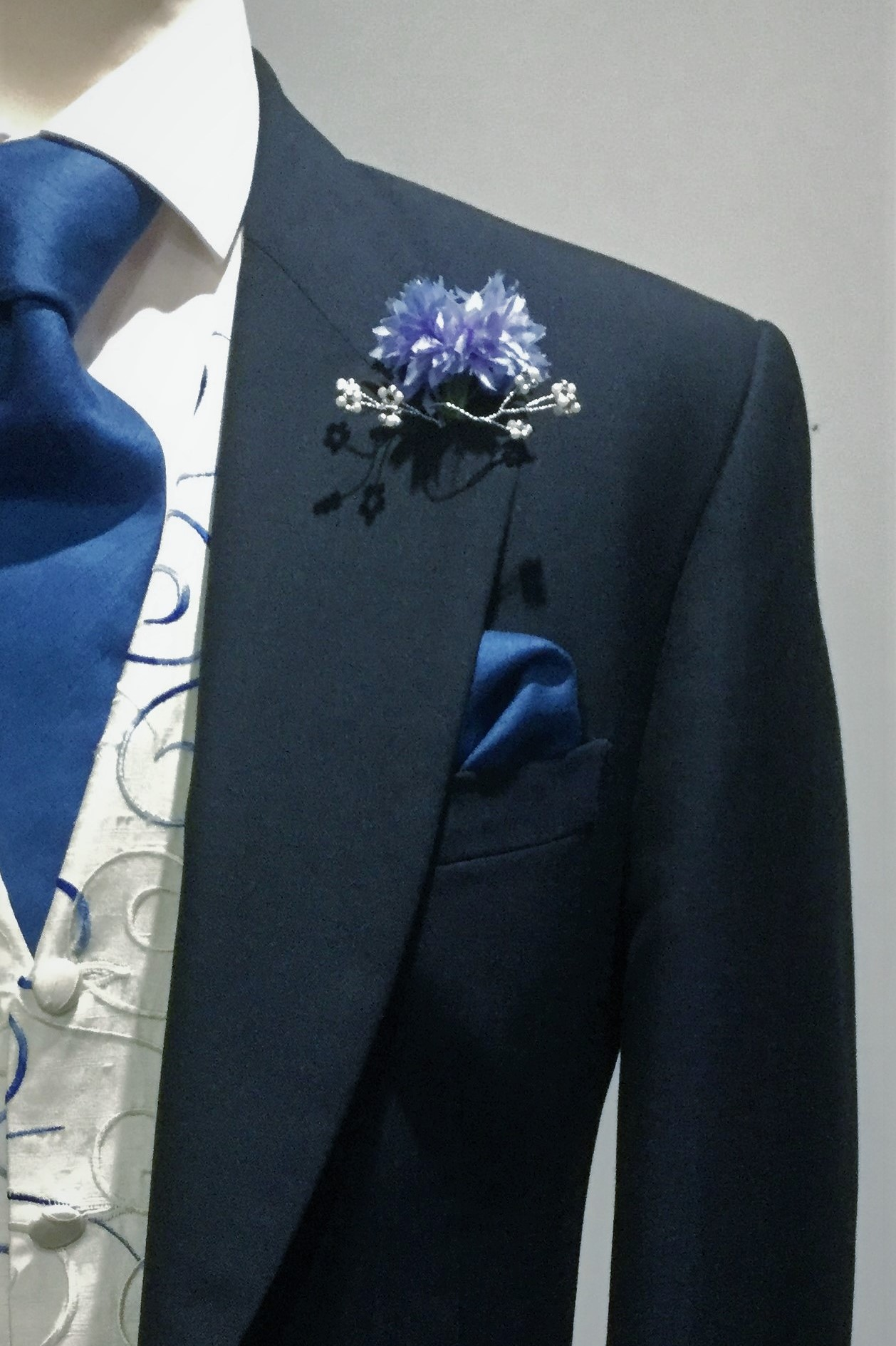 Navy Mens Wedding Hire Morning Suit by Black Tie Menswear