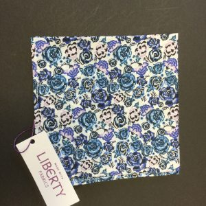 Palace Gardens blue Liberty of London floral cotton fabric handkerchief