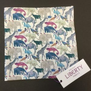 Queue For the Zoo Liberty of London cotton fabric handkerchief